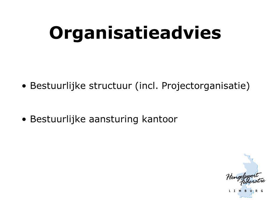 Organisatieadvies Bestuurlijke structuur (incl. Projectorganisatie) Bestuurlijke aansturing kantoor