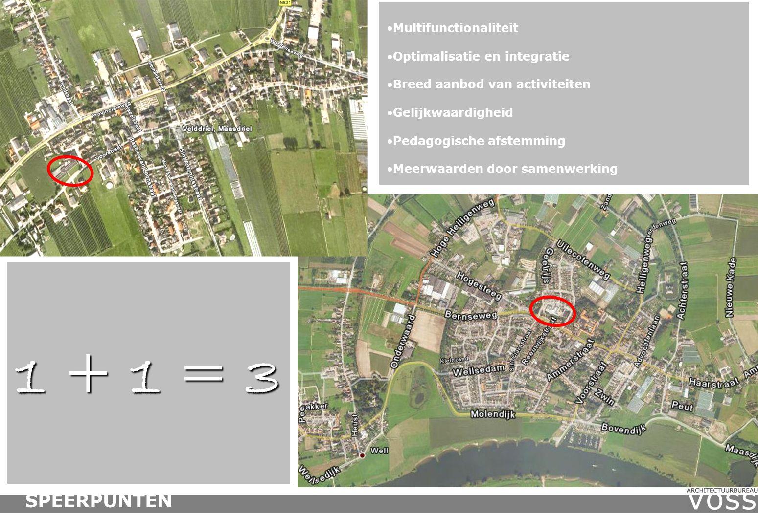 Ammerzoden In opdracht van de gemeente Maasdriel heeft Architectuurbureau Voss samen met de beoogde participanten een studie verricht naar de uitbreidingsmogelijkheden van de RK basisschool de Schakel in het hart van Ammerzoden.