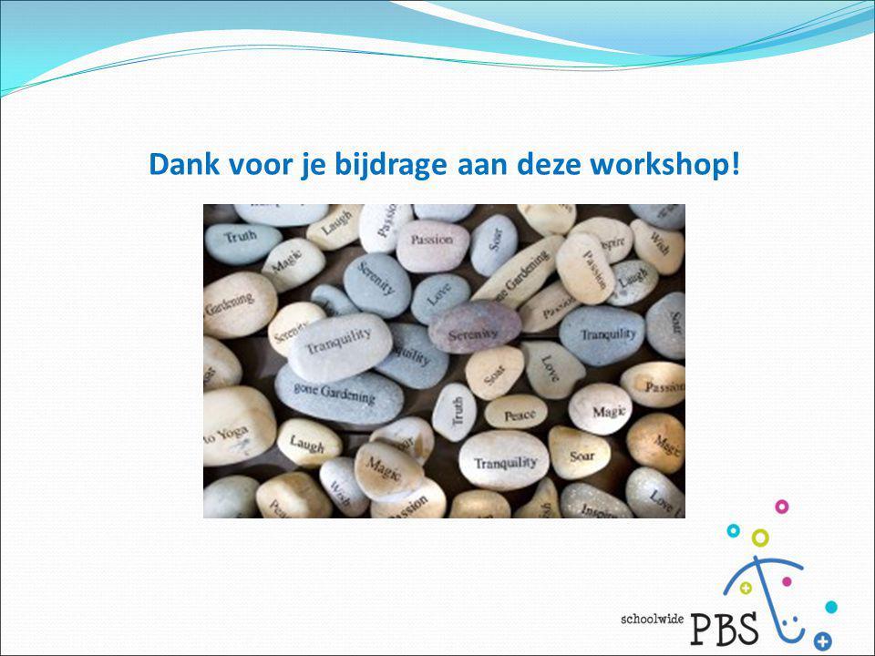 Dank voor je bijdrage aan deze workshop!