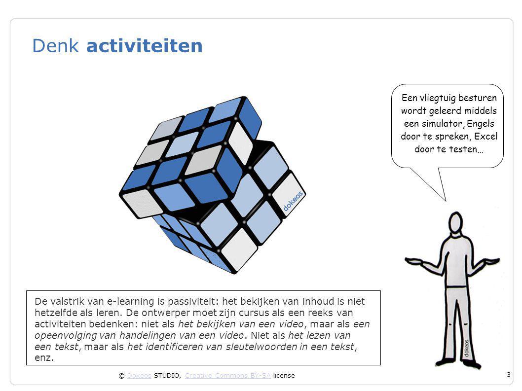 © Dokeos STUDIO, Creative Commons BY-SA licenseDokeosCreative Commons BY-SA 14 Documenten vergelijken Vergelijking is een van de meest elementaire vormen van begrijpen.