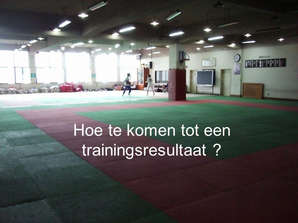 Hoe te komen tot een trainingsresultaat ?