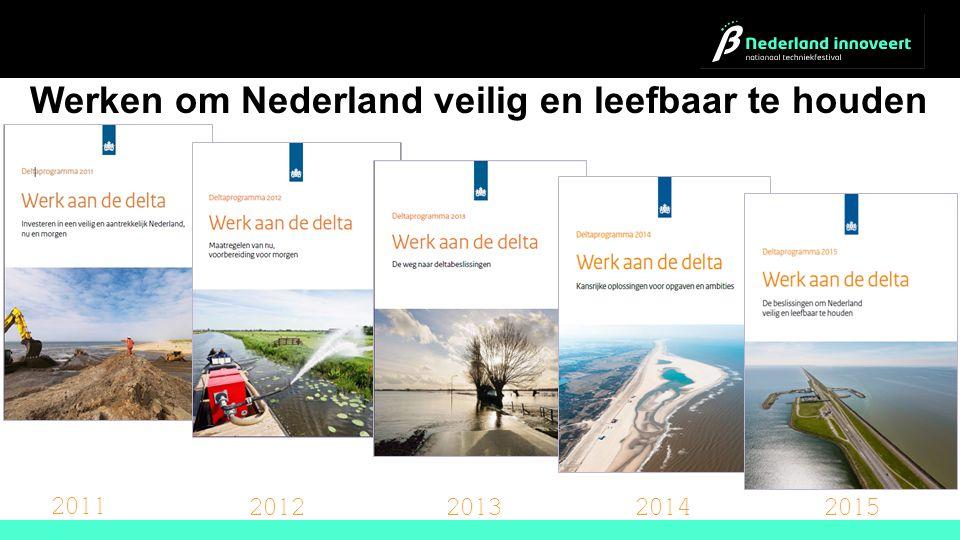 2011 2012201320142015 Werken om Nederland veilig en leefbaar te houden