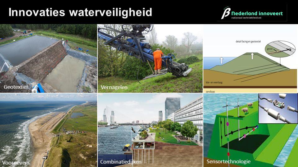 Sensortechnologie Combinatiedijken Vooroevers Geotextiel Vernagelen Innovaties waterveiligheid