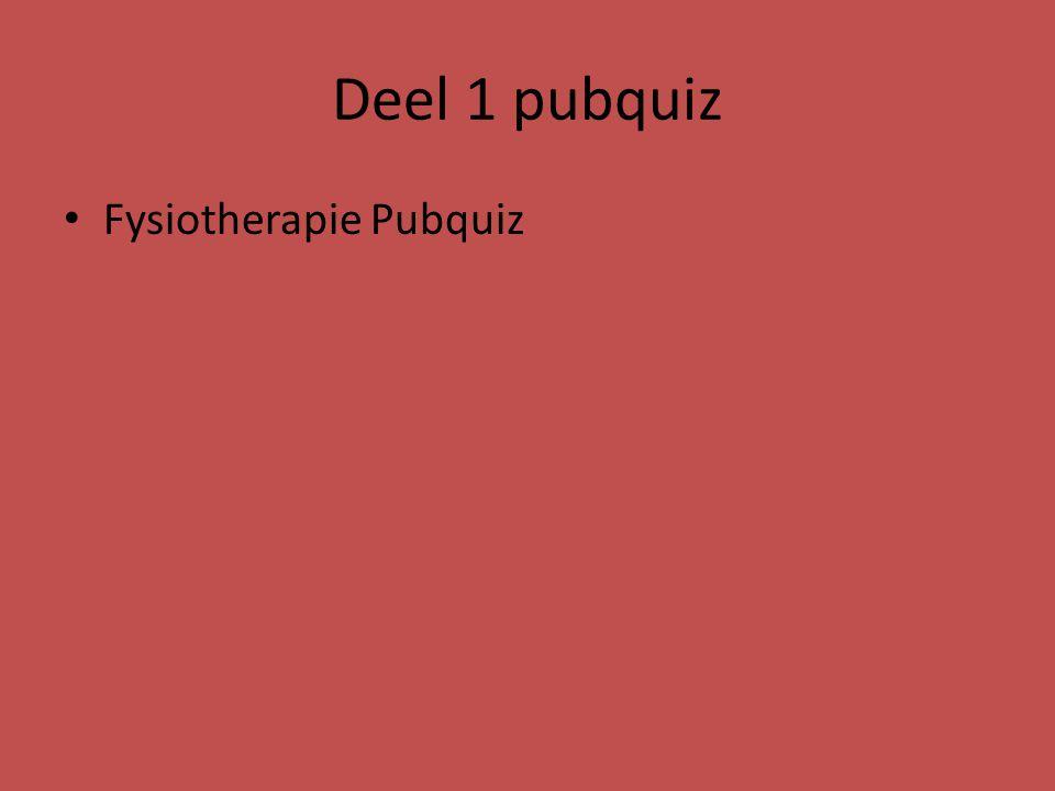 Deel 1 pubquiz Fysiotherapie Pubquiz