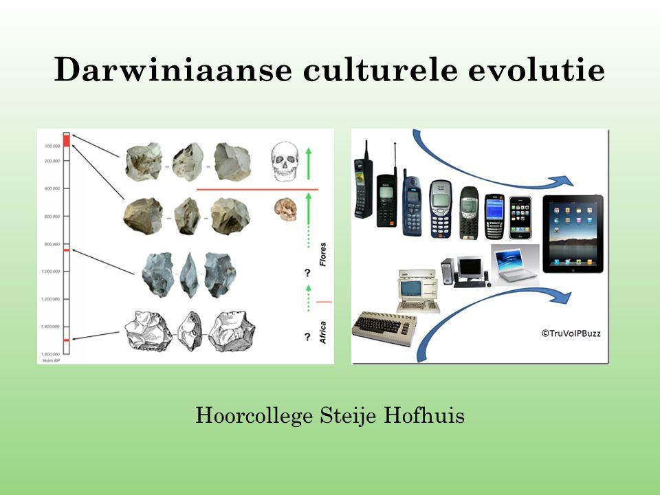 Darwiniaanse culturele evolutie Hoorcollege Steije Hofhuis