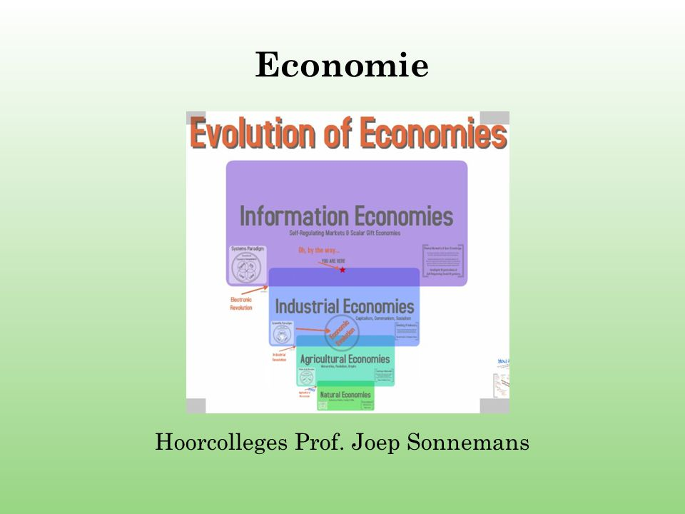 Economie Hoorcolleges Prof. Joep Sonnemans