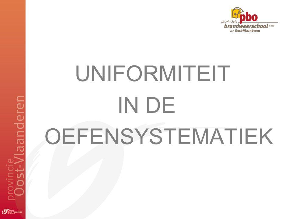UNIFORMITEIT IN DE OEFENSYSTEMATIEK