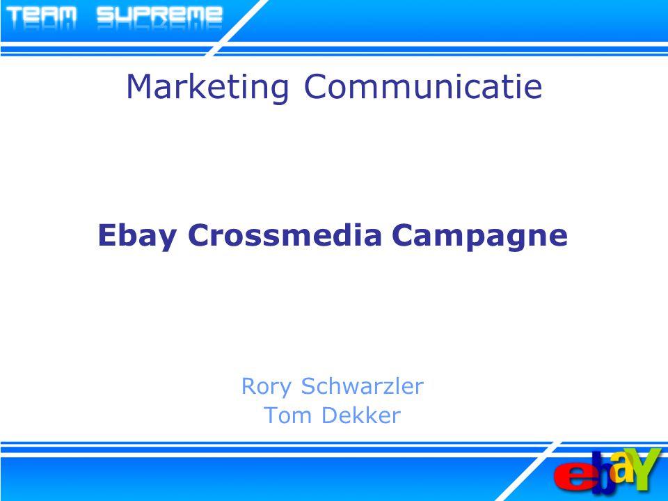 Debriefing Ebay positioneren in de gedachten van de doelgroep.