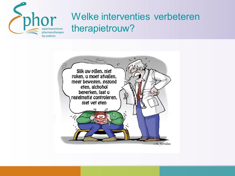 Welke interventies verbeteren therapietrouw?