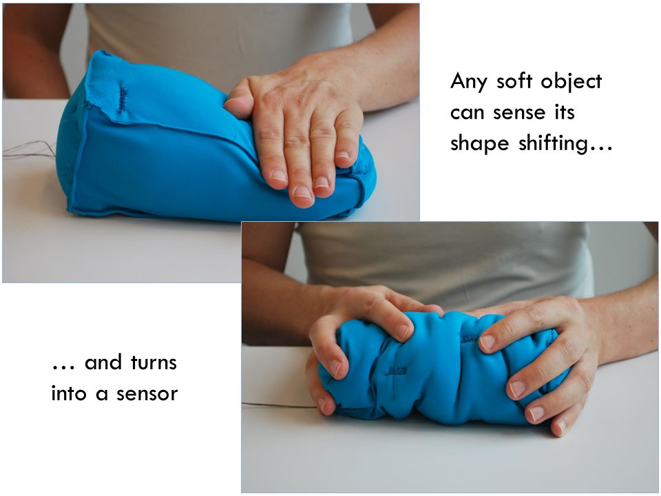 Any soft object can sense its shape shifting… … and turns into a sensor