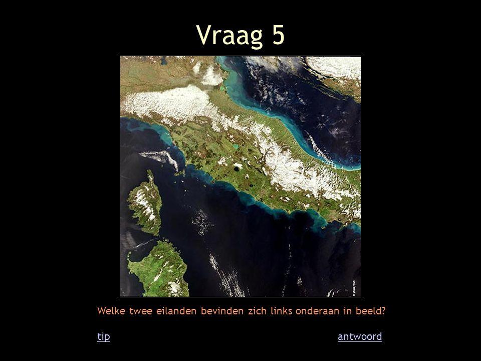 Vraag 6 Op dit beeld zie je de grens van twee werelddelen.