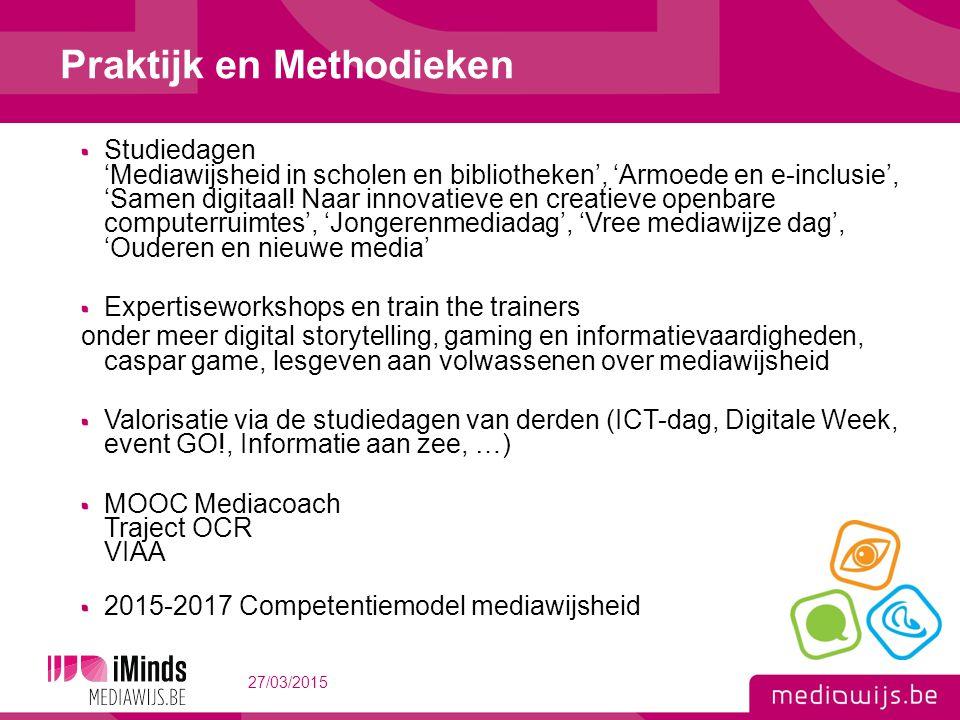 Studiedagen 'Mediawijsheid in scholen en bibliotheken', 'Armoede en e-inclusie', 'Samen digitaal.