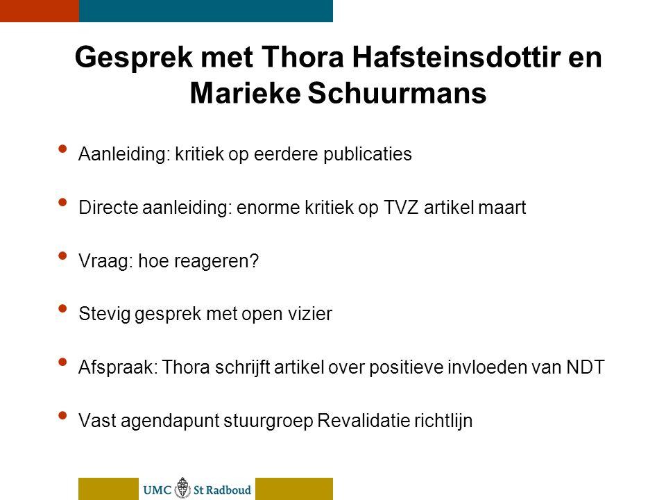 nEUroBlend Presentation, den Bosch, sep 30, 2005 Gesprek met Thora Hafsteinsdottir en Marieke Schuurmans Aanleiding: kritiek op eerdere publicaties Di