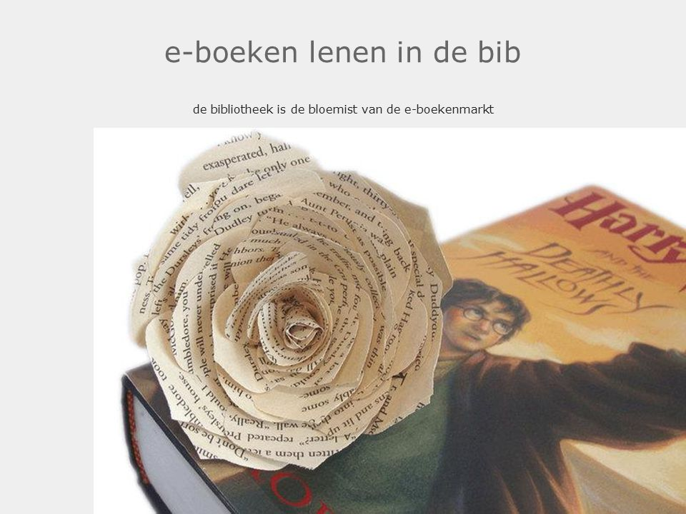 e-boeken lenen in de bib de bibliotheek is de bloemist van de e-boekenmarkt Piracy isn't so much about just getting stuff for free anymore, it s about access t.co/k7te0WQEAZ boezeman tweeted on Oct 06, 2014 12:16Replyt.co/k7te0WQEAZ boezemanOct 06, 2014 12:16Reply @boezeman In the old days we had libraries that provided easy & legal access to almost everything: the perfect weapon against piracy.