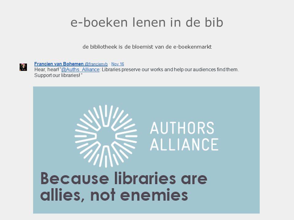e-boeken lenen in de bib de bibliotheek is de bloemist van de e-boekenmarkt. Francien van Bohemen @francienvb Francien van Bohemen @francienvb · Nov 1