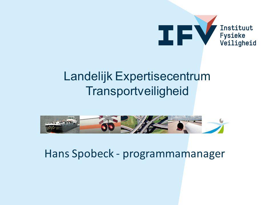 Hans Spobeck - programmamanager Landelijk Expertisecentrum Transportveiligheid