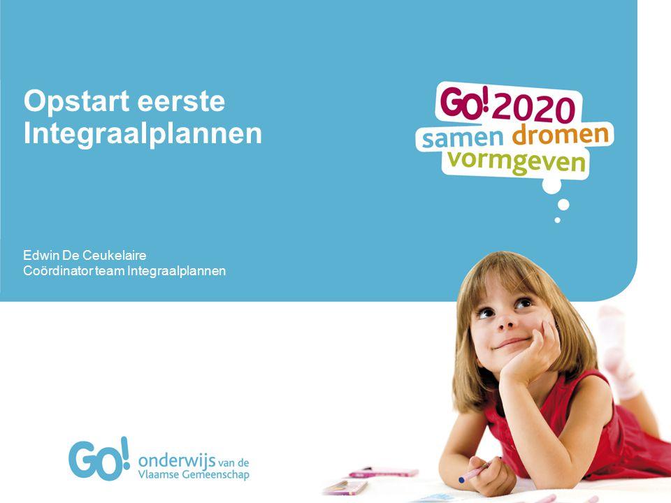 Opstart eerste Integraalplannen Edwin De Ceukelaire Coördinator team Integraalplannen