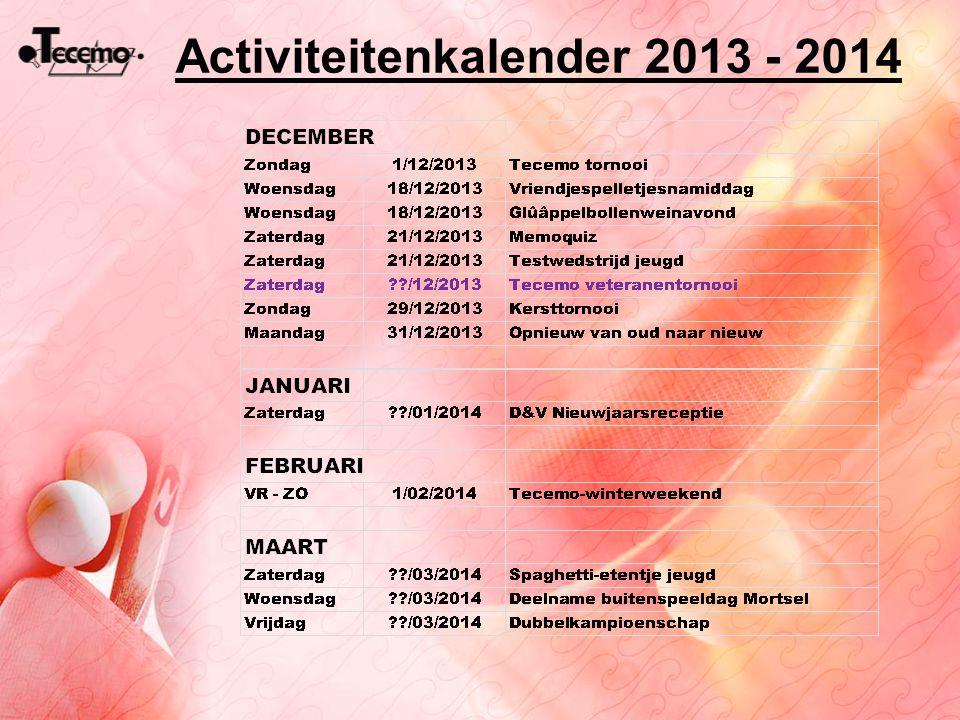 Activiteitenkalender 2013 - 2014