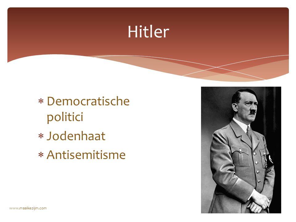  Democratische politici  Jodenhaat  Antisemitisme Hitler www.maaikezijm.com