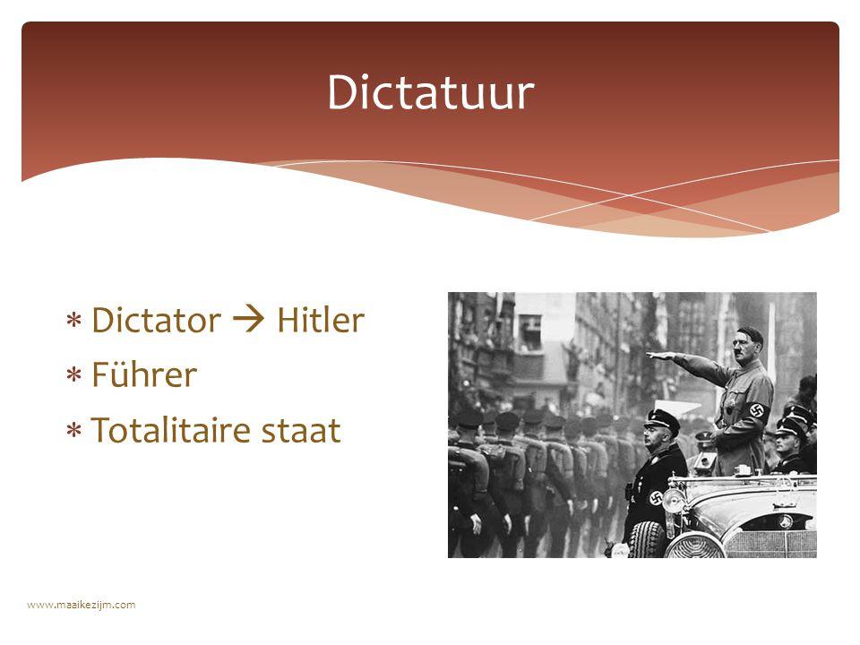  Dictator  Hitler  Führer  Totalitaire staat Dictatuur www.maaikezijm.com