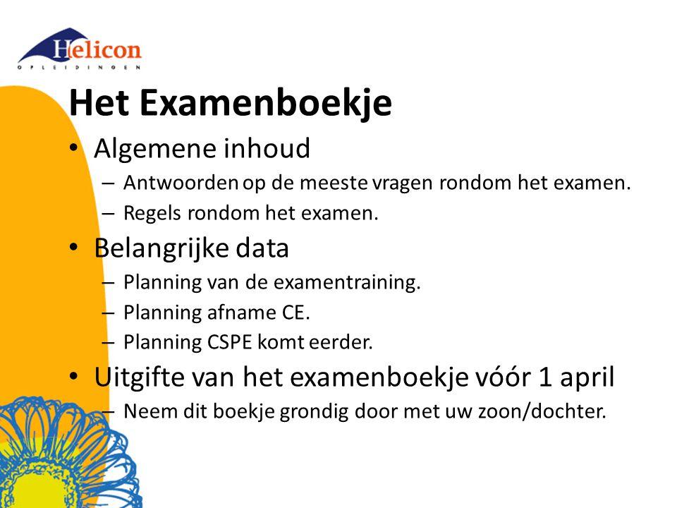 Het Examenboekje Algemene inhoud – Antwoorden op de meeste vragen rondom het examen.