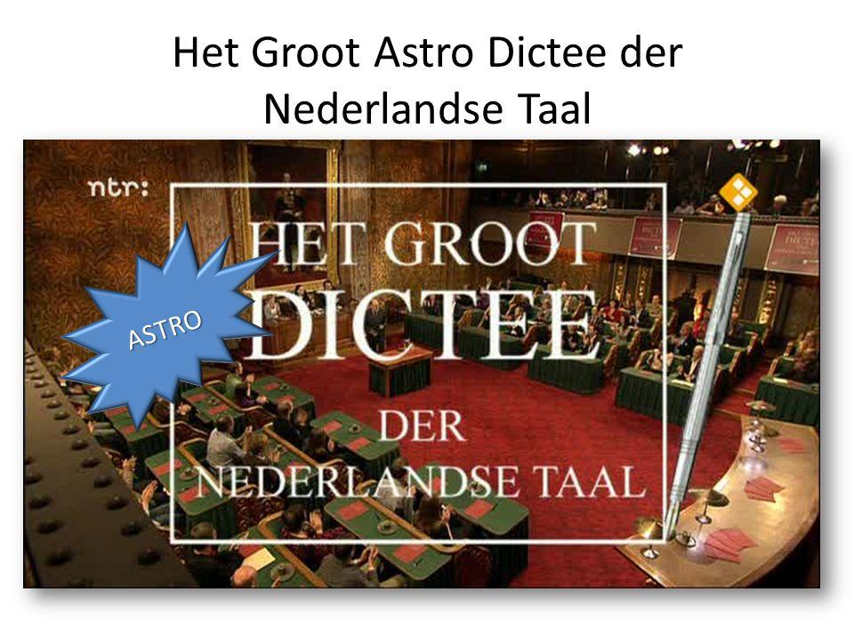 Het Groot Astro Dictee der Nederlandse Taal ASTRO