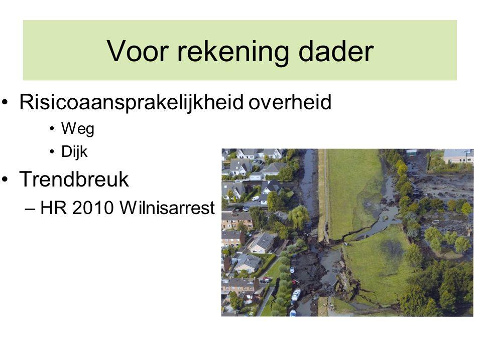 Risicoaansprakelijkheid overheid Weg Dijk Trendbreuk –HR 2010 Wilnisarrest