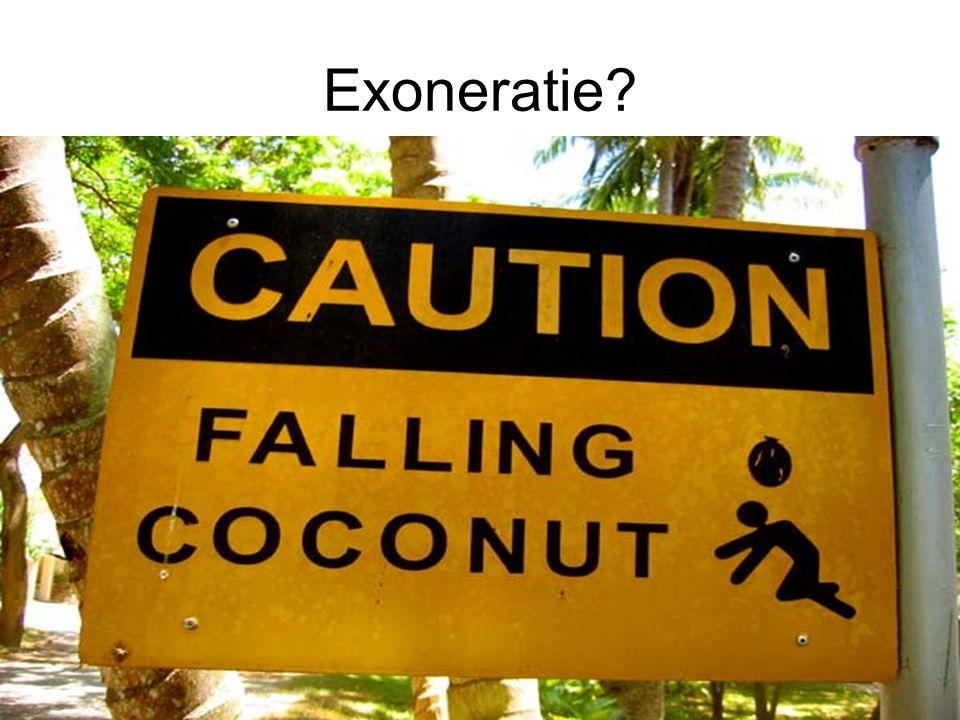 Exoneratie?
