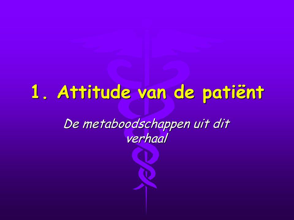 1. Attitude van de patiënt De metaboodschappen uit dit verhaal