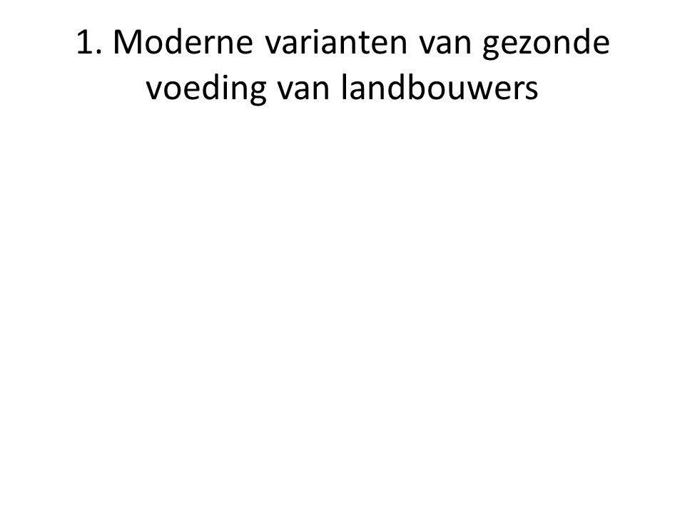 1. Moderne varianten van gezonde voeding van landbouwers