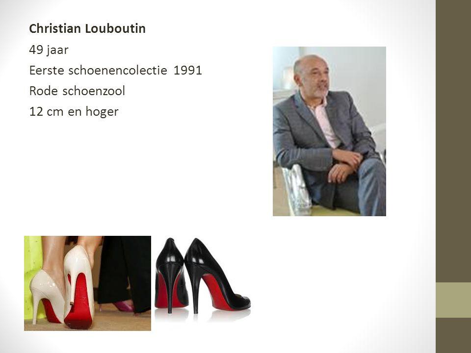 Christian Louboutin 49 jaar Eerste schoenencolectie 1991 Rode schoenzool 12 cm en hoger