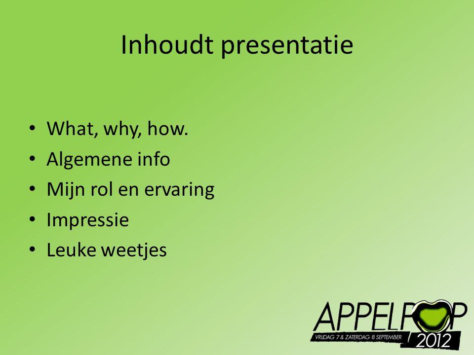 What, Why, How Event 4 uur vrijwilligers werk Presentatie