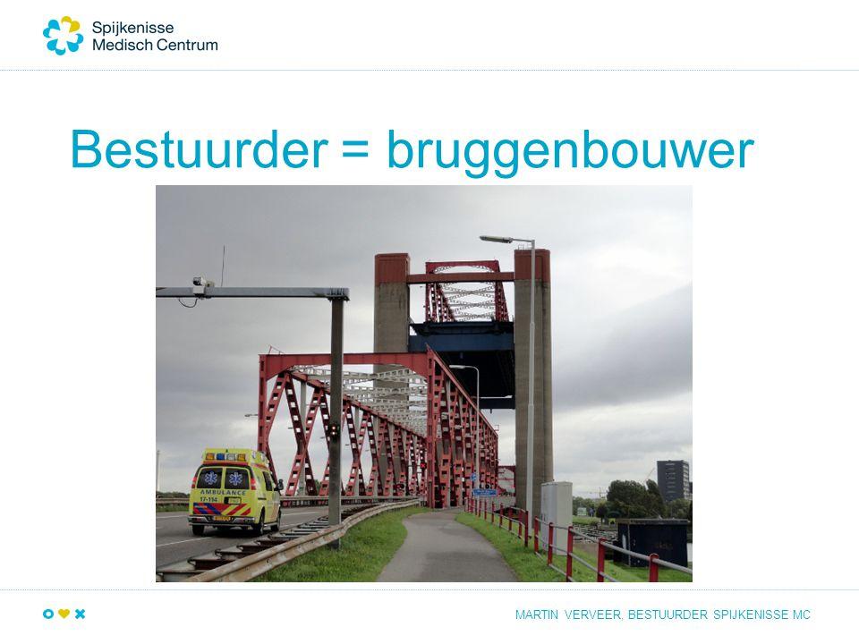 Bestuurder = bruggenbouwer MARTIN VERVEER, BESTUURDER SPIJKENISSE MC