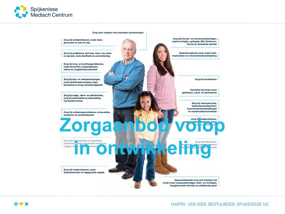 Zorgaanbod volop in ontwikkeling MARTIN VERVEER, BESTUURDER SPIJKENISSE MC