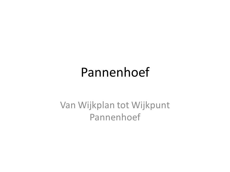 Pannenhoef Van Wijkplan tot Wijkpunt Pannenhoef