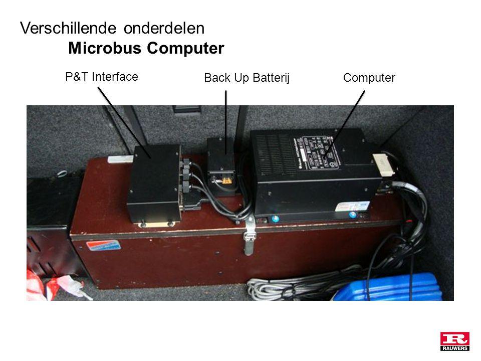 Verschillende onderdelen Microbus Computer ComputerBack Up Batterij P&T Interface