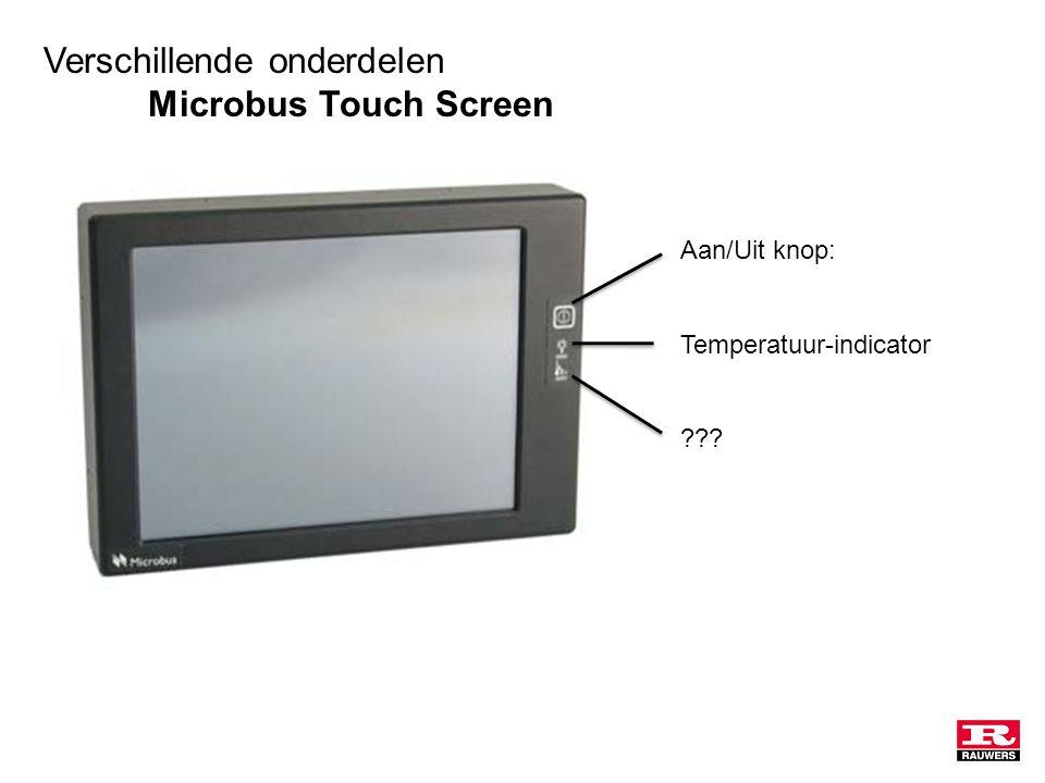 Verschillende onderdelen Microbus Touch Screen Aan/Uit knop: Temperatuur-indicator
