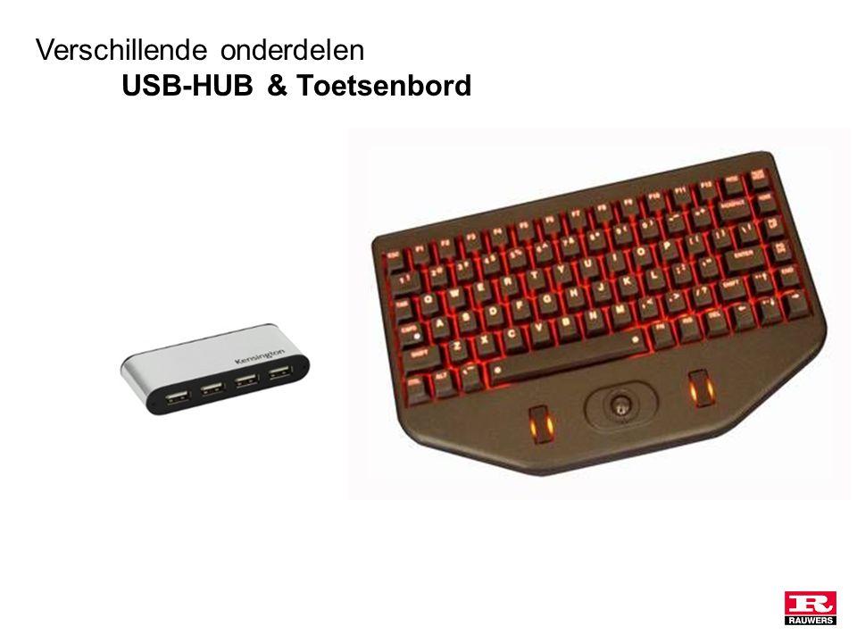 Verschillende onderdelen USB-HUB & Toetsenbord