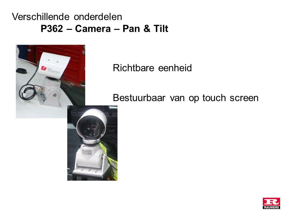 Verschillende onderdelen P362 – Camera – Pan & Tilt