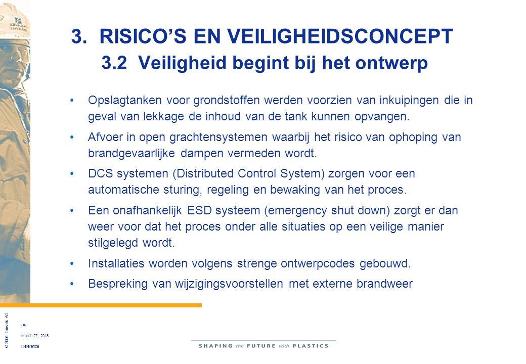 Reference © 2006 Borealis AG 29 March 27, 2015 3. RISICO'S EN VEILIGHEIDSCONCEPT 3.2 Veiligheid begint bij het ontwerp Opslagtanken voor grondstoffen