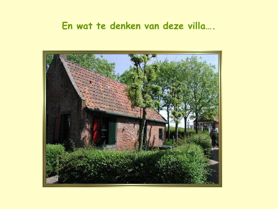 En wat te denken van deze villa….