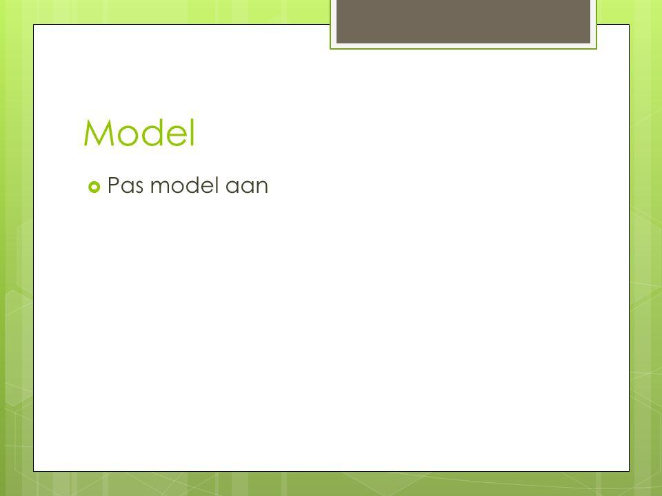 Model  Pas model aan