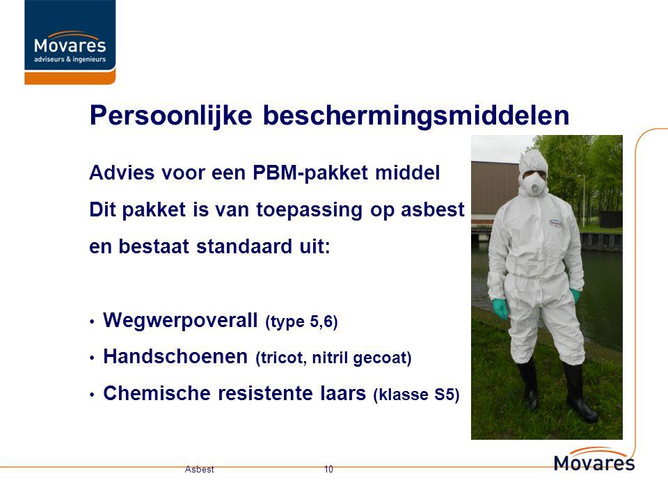 Medische keuring Basisklasse: geen keuring 1T t/m 3T: keuring A Adembescherming: keuring B Onafhankelijke adembescherming: keuring C Keuring B en C zijn afhankelijk voor de gemeten waarden (hoeveelheid vezels in de lucht).
