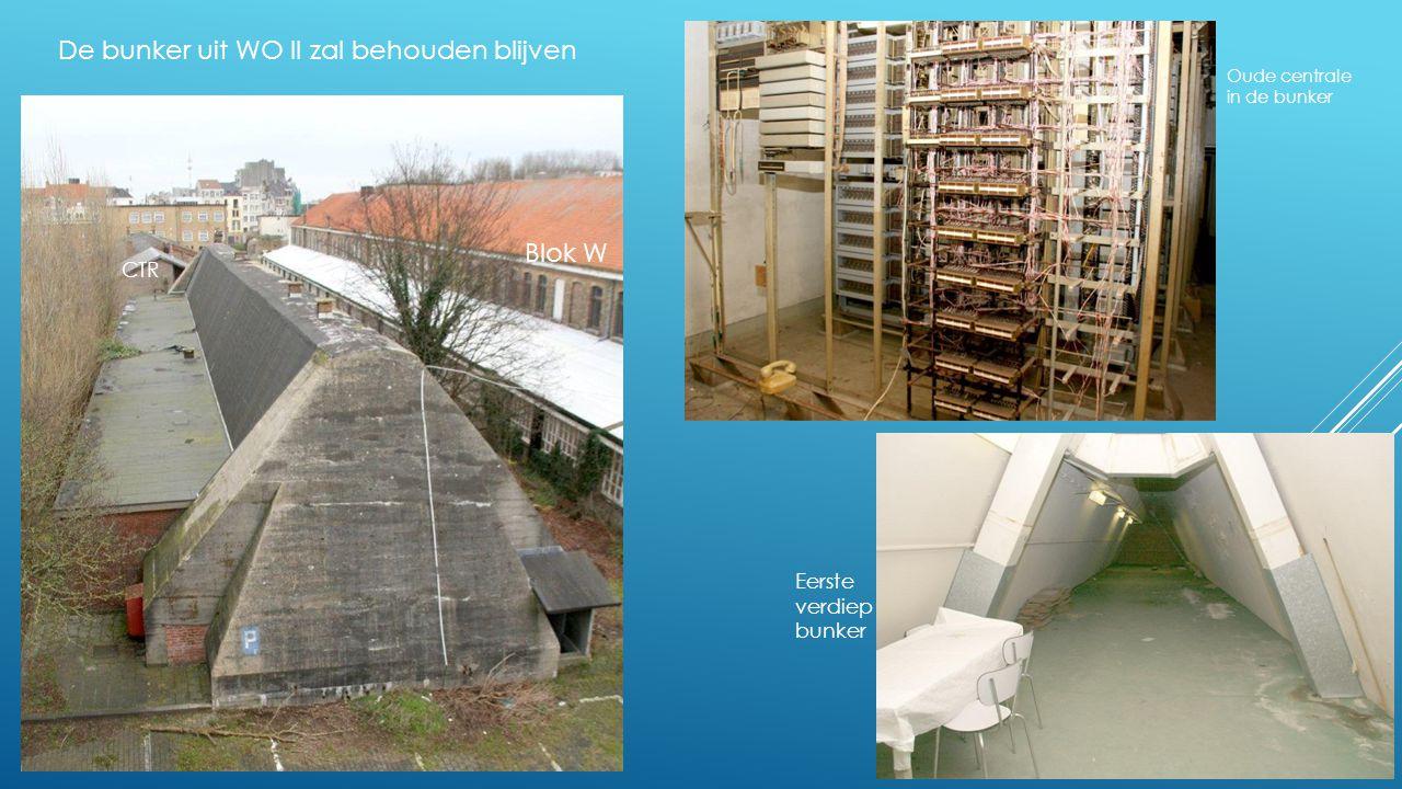 De bunker uit WO II zal behouden blijven Blok W CTR Oude centrale in de bunker Eerste verdiep bunker