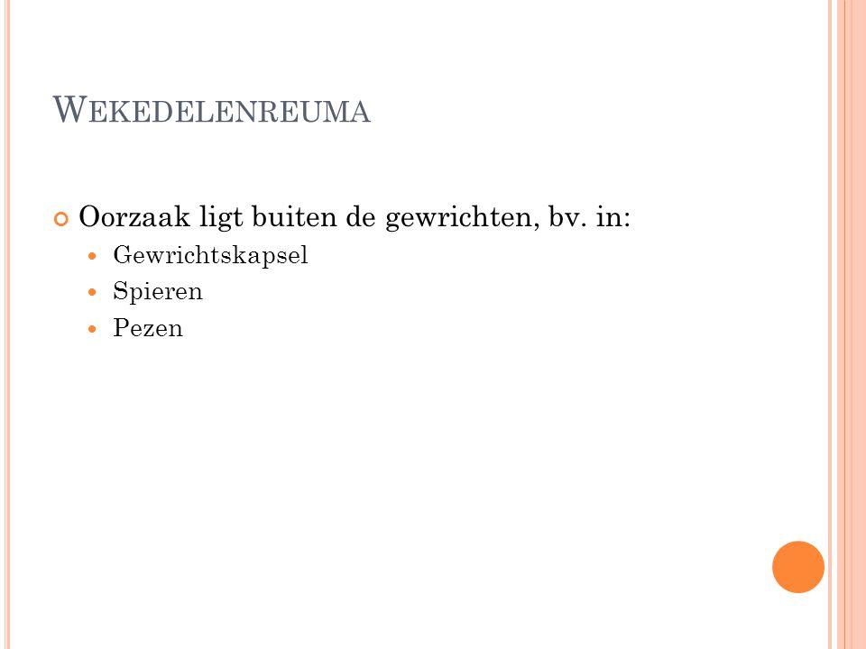 A NDERE STRUCTUREN ROND EEN GEWRICHT Spieren en pezen Slijmbeurs of bursa Peesomhulsels of peesscheden