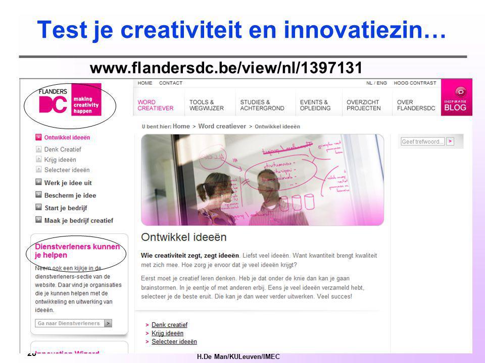 H.De Man/KULeuven/IMEC 27 Kapitaal verstrekkers www.allegroinvestmentfund.com lrd.kuleuven.be/spinoff/gff-informatie