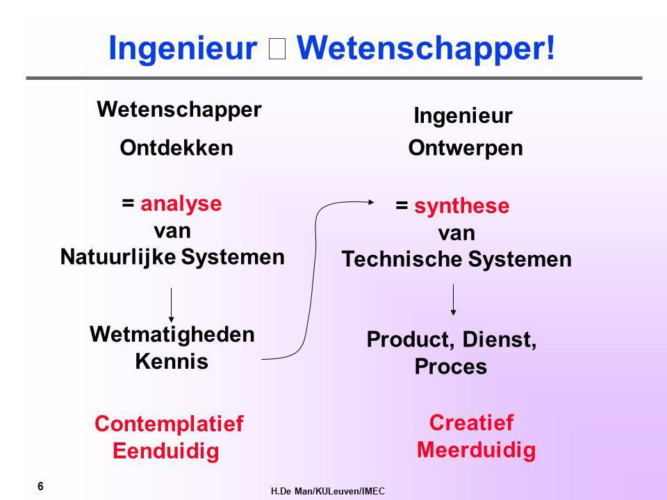 H.De Man/KULeuven/IMEC 5 Systeem.