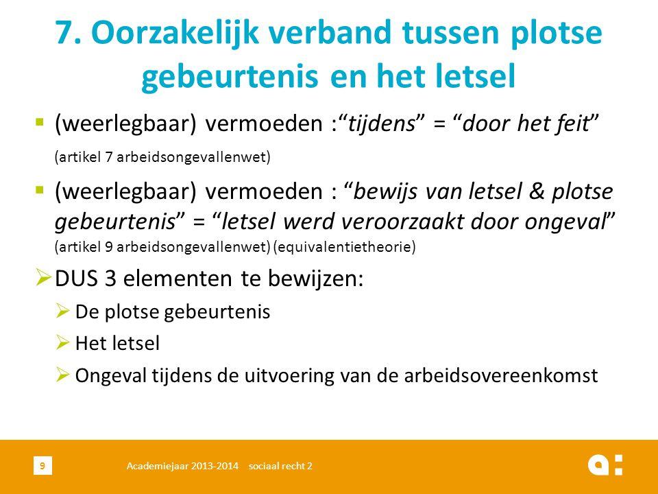 Academiejaar 2013-2014 sociaal recht 210 3.