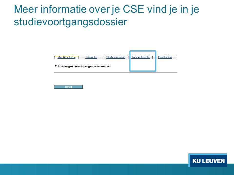 Meer informatie over je CSE vind je in je studievoortgangsdossier