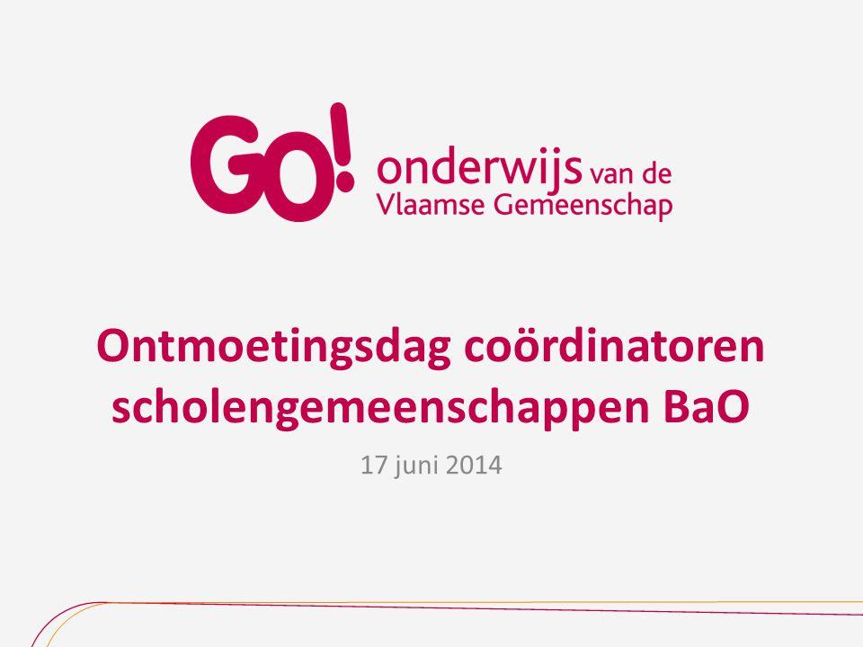 Ontmoetingsdag coördinatoren scholengemeenschappen BaO 17 juni 2014